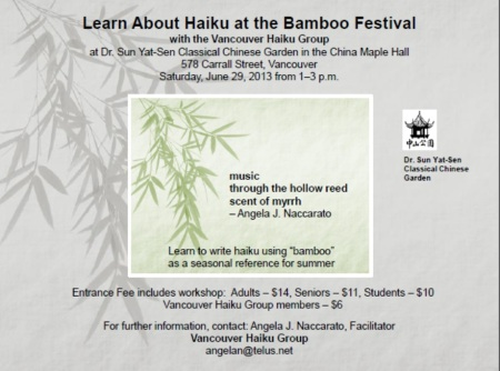 Bamboo haiku workshop