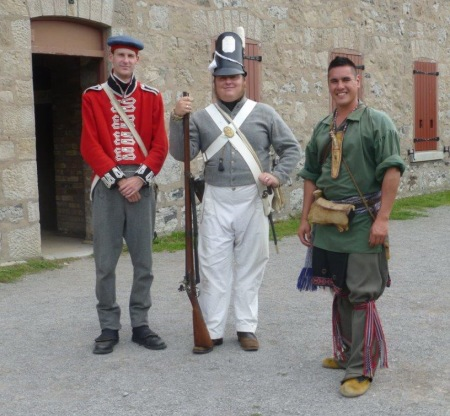 Re-enactor staff at Fort Erie answered my many questions while I poked around the fort